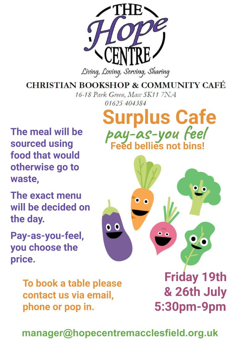 Surplus food cafe ad