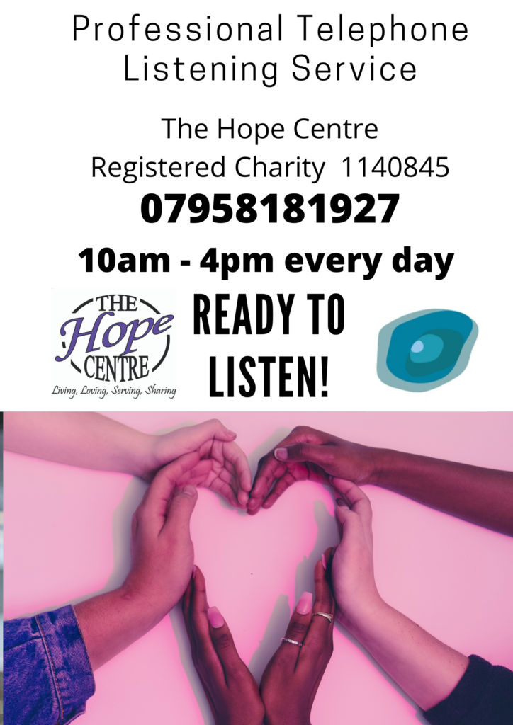 Professional Listening service from the Hope Centre